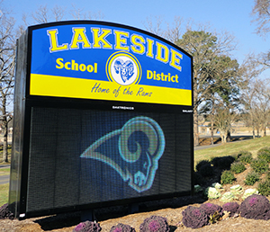 Lakeside Main Entrance Sign